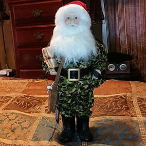 Home Accents Wishes and Wonder Military CAMO SANTA